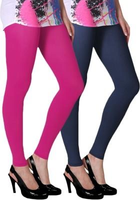 Slassy Women's Pink, Blue Leggings