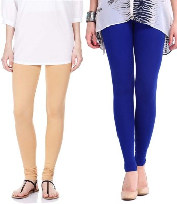 Sampoorna Collection Women's Blue, Beige Leggings