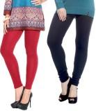 vernal Women's Black, Red Leggings (Pack...