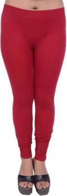 Snoby Women's Red Leggings