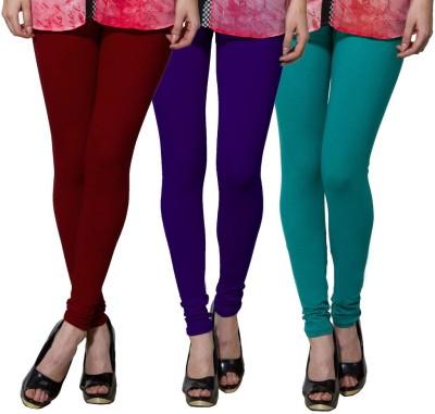 Both11 Women's Maroon, Purple, Green Leggings