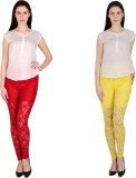 Simrit Women's Red, Yellow Leggings (Pac...