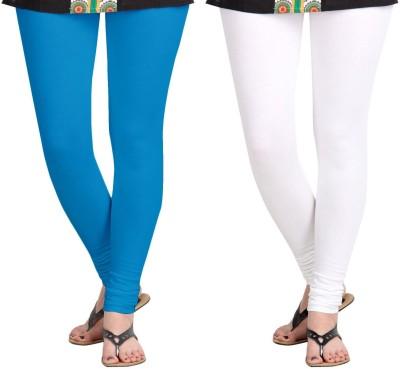 ZACHARIAS Women's Light Blue, White Leggings