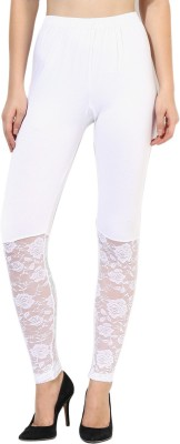 Aashish Fabrics Women's White Leggings