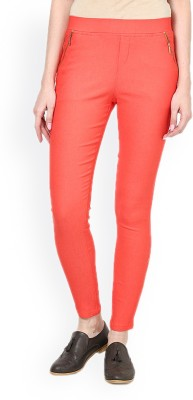 Jack Royal Women's Orange Jeggings