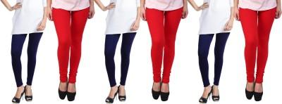 Escocer Women's Blue, Red Leggings