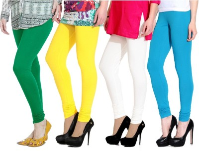 NGT Women's Green, Yellow, White, Light Blue Leggings