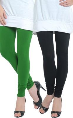 Tulsattva Women's Green, Black Leggings