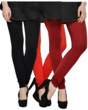 Kjaggs Women's Black, Red, Maroon Leggin...