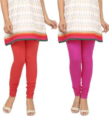 Agrima Fashion Women's Red, Pink Leggings