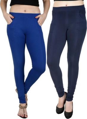 Baremoda Women's Blue, Black Jeggings