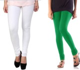 StudioRavel Women's White, Green Legging...