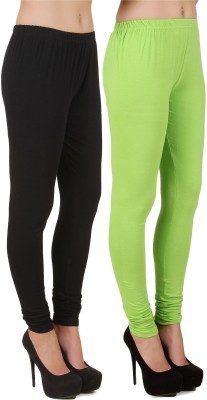 Stylishbae Women's Black, Green Leggings