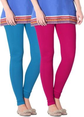 Nice Fit Women's Blue, Maroon Leggings