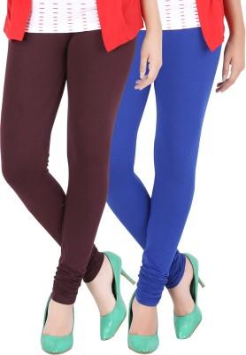 Dansik Women's Maroon, Blue Leggings