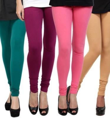 Roma Creation Women's Green, Purple, Pink, Beige Leggings