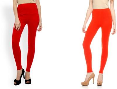 Kamaira Women's Red, Orange Leggings
