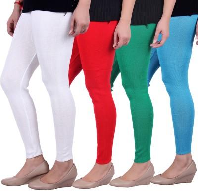 Sellsy Women's White, Orange, Green, Blue Leggings