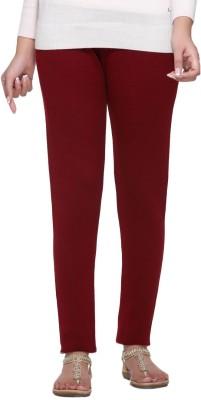Aashish Fabrics Women's Maroon Leggings