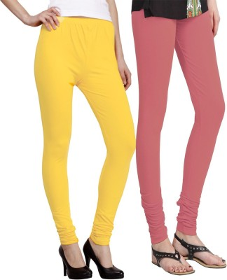 Venustas Women's Pink, Yellow Leggings
