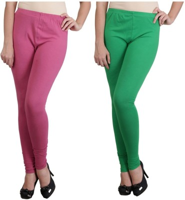Ahhaaaa Women's Pink, Green Leggings