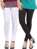 Be-Style Women's White, Black Leggings (...