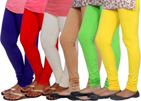 Tullis Women's Multicolor Leggings(Pack of 6)