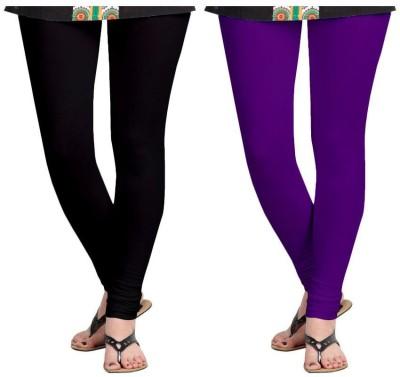 Roshni Creations Women's Purple, Black Leggings