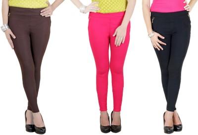 Zrestha Women's Black, Brown, Pink Leggings