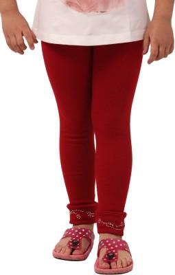 Vostro Moda Girl's Maroon Leggings