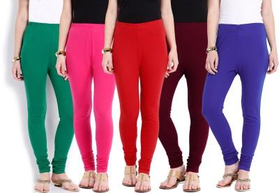 Ten on Ten Women's Pink, Red, Maroon, Blue, Green Leggings