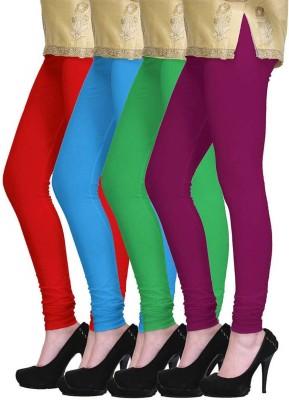 Fashion Zilla Women's Red, Blue, Green, Pink Leggings