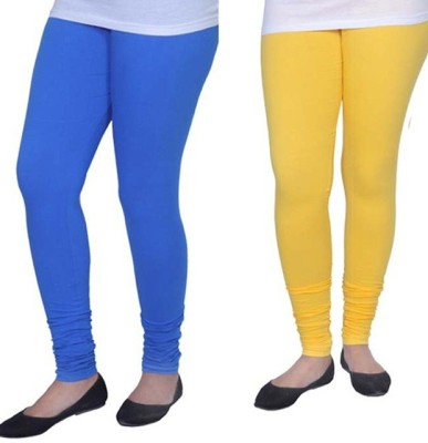 Tele Queen Girl's Blue, Yellow Leggings