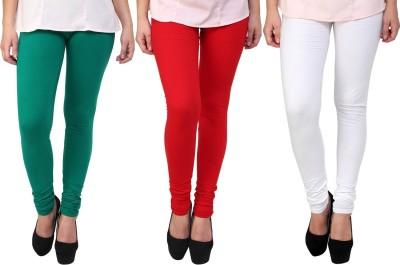 Legemat Girl,s Green, Red, White Leggings