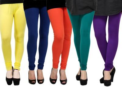 Kjaggs Women's Yellow, Green, Orange, Blue, Purple Leggings