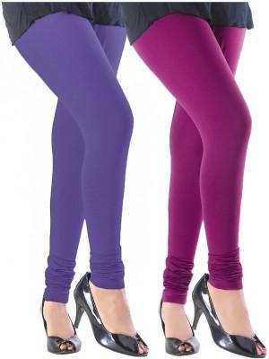 Addline Women's Blue, Purple Leggings