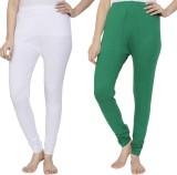 Krazy Katz Women's White, Green Leggings...