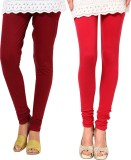 Famaya Women's Maroon, Red Leggings (Pac...