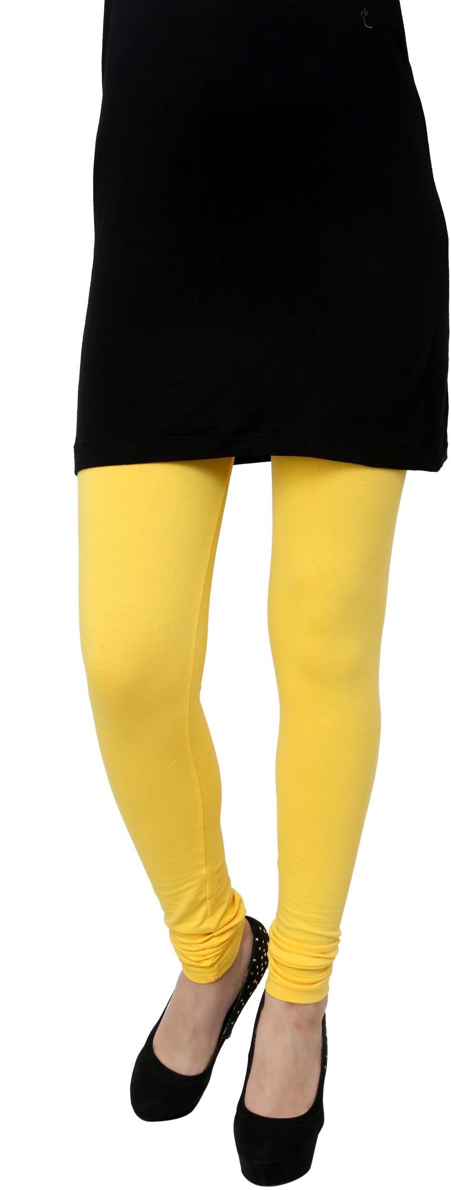 Gen Womens Yellow Leggings