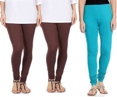 Sampoorna Collection Women's Brown, Brown, Blue Leggings