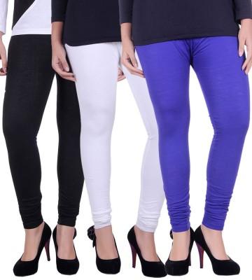 divine creations Women's Black, White, Blue Leggings