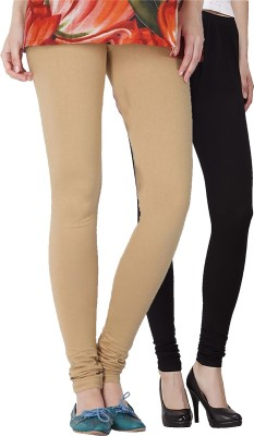 Venustas Women's Beige, Black Leggings