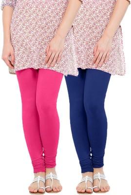WellFitLook Women's Pink, Blue Leggings