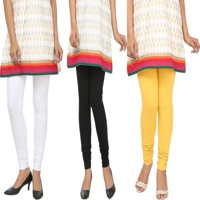 Agrima Fashion Women's White, Black, Yellow Leggings