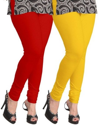 Ambitious Women's Red, Yellow Leggings