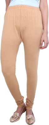 White Feather Women's Beige Leggings