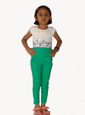 E2G Girl's Green Jeggings