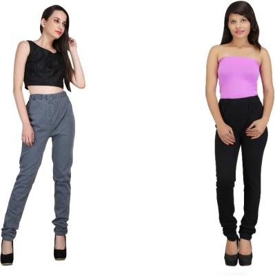 bella nova Women's Grey, Black Jeggings
