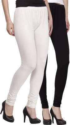 Venustas Women's White, Black Leggings