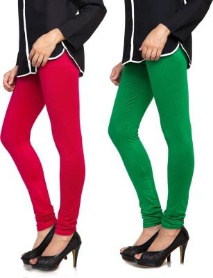 Bulbul Women's Red, Green Leggings